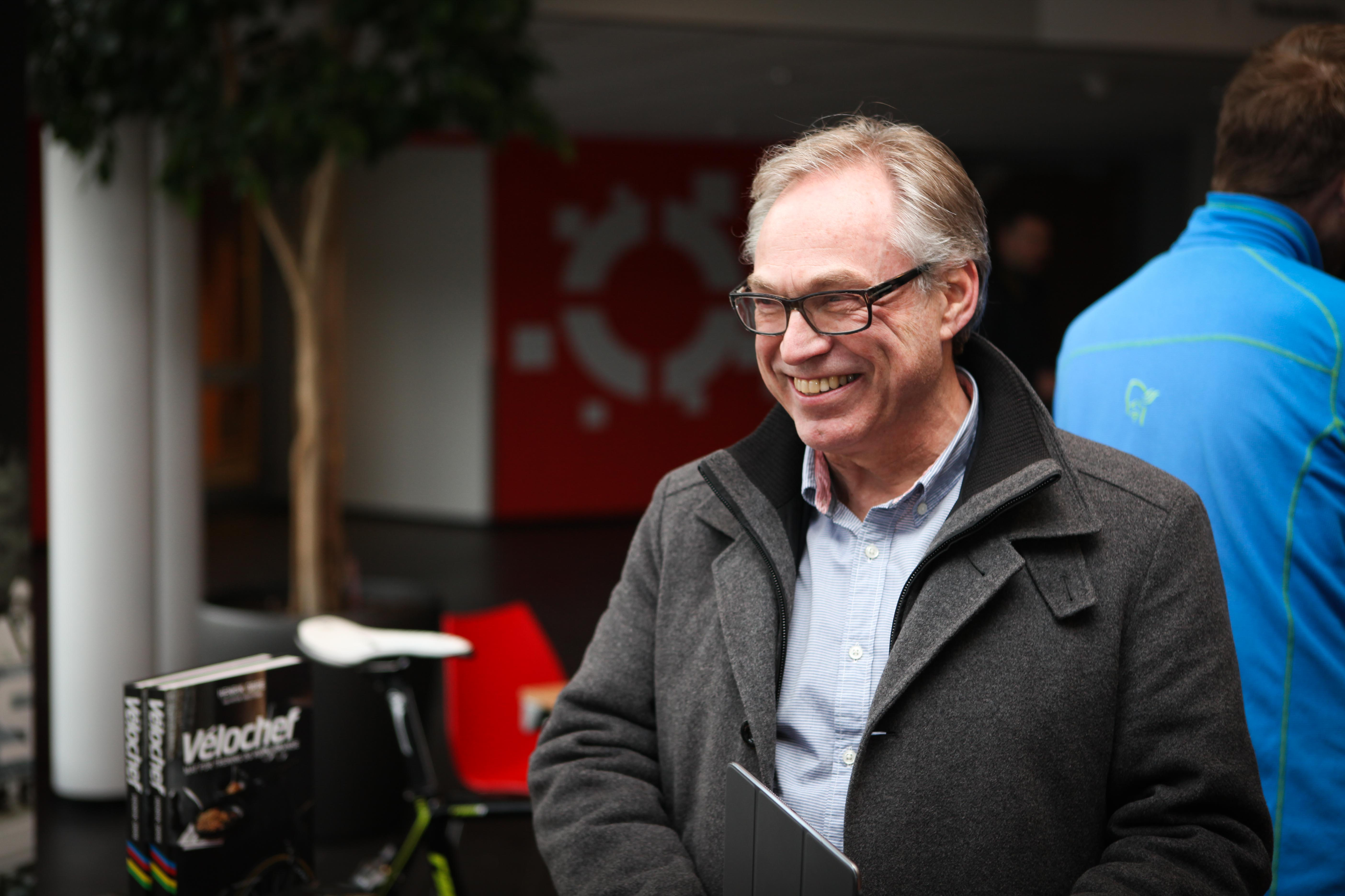 Jobber videre: President Harald Tiedemann Hansen. Foto: Kjetil R. Anda / Sykkelmagasinet