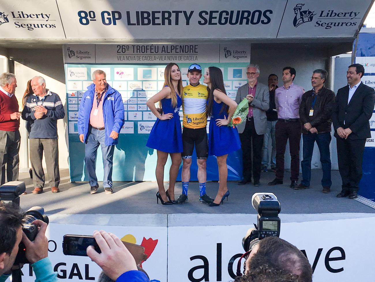 Frisk sesongstart: August Jensen gikk helt til topps i det første av to ritt Coop ØsterHus kjører i Portugal i mars.