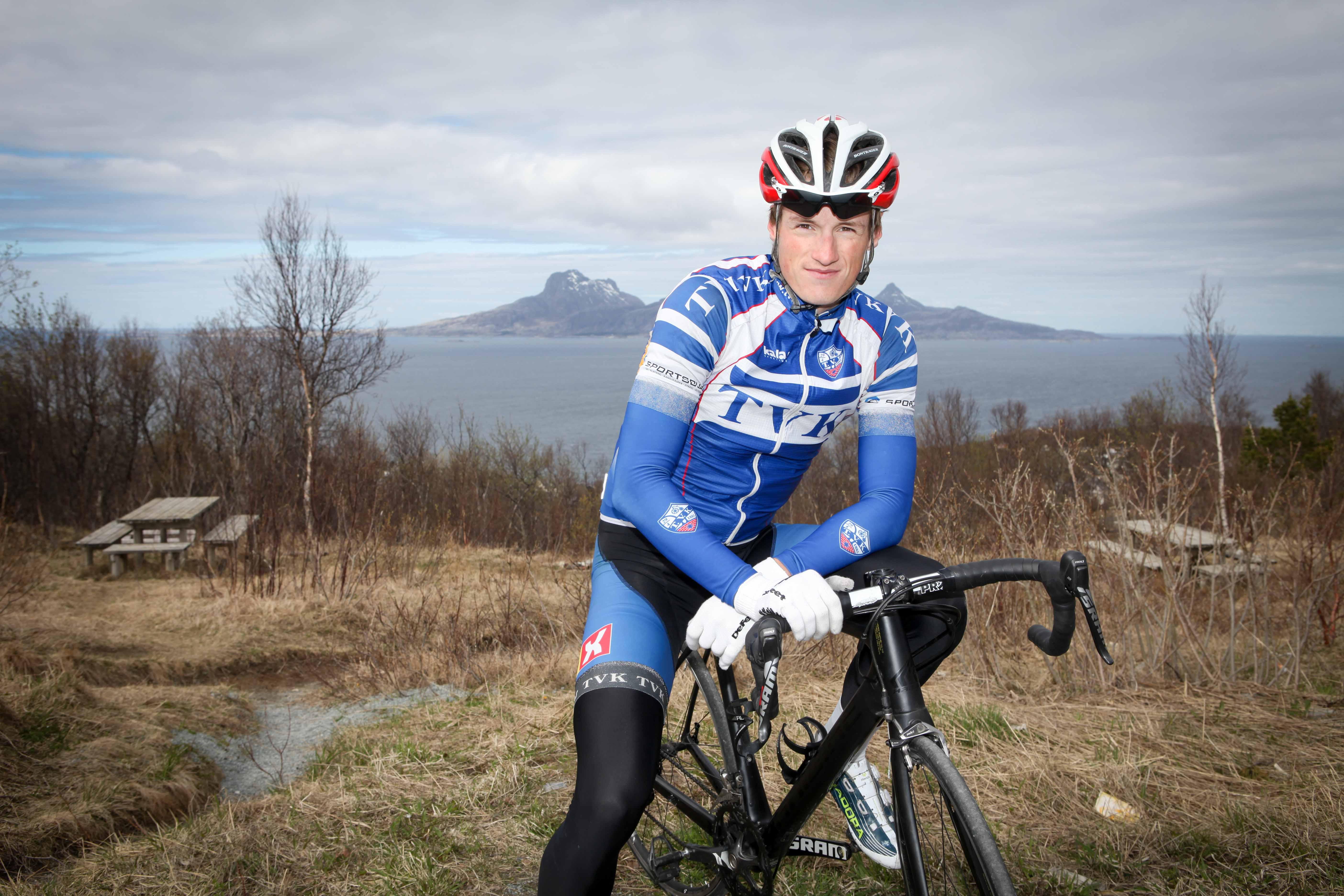 """TVK-talent: Andreas Sandnes Olsen viste seg tidlig frem i TVK-drakten. Tidlig 2015 gikk han ut og """"lovet"""" kontrakt med et kontinentallag. Slik ble det. Foto: Kjetil R. Anda / Sykkelmagasinet"""