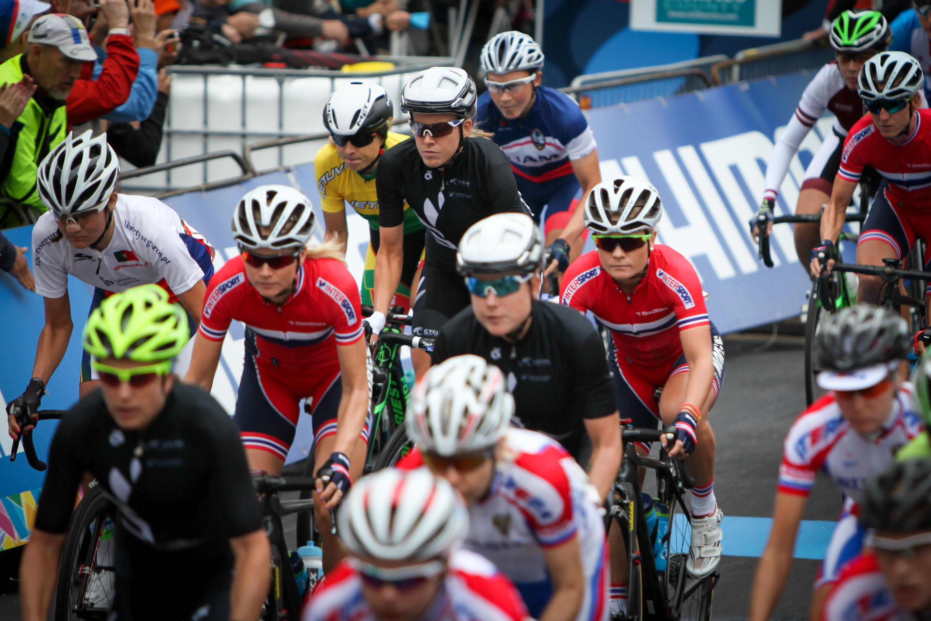 Tilbake: Ett år etter skrekkvelten i Ponferrada, syklet Miriam Bjørnsrud igjen VM, denne gang i Richmond. Foto: Kjetil R. Anda / Sykkelmagasinet