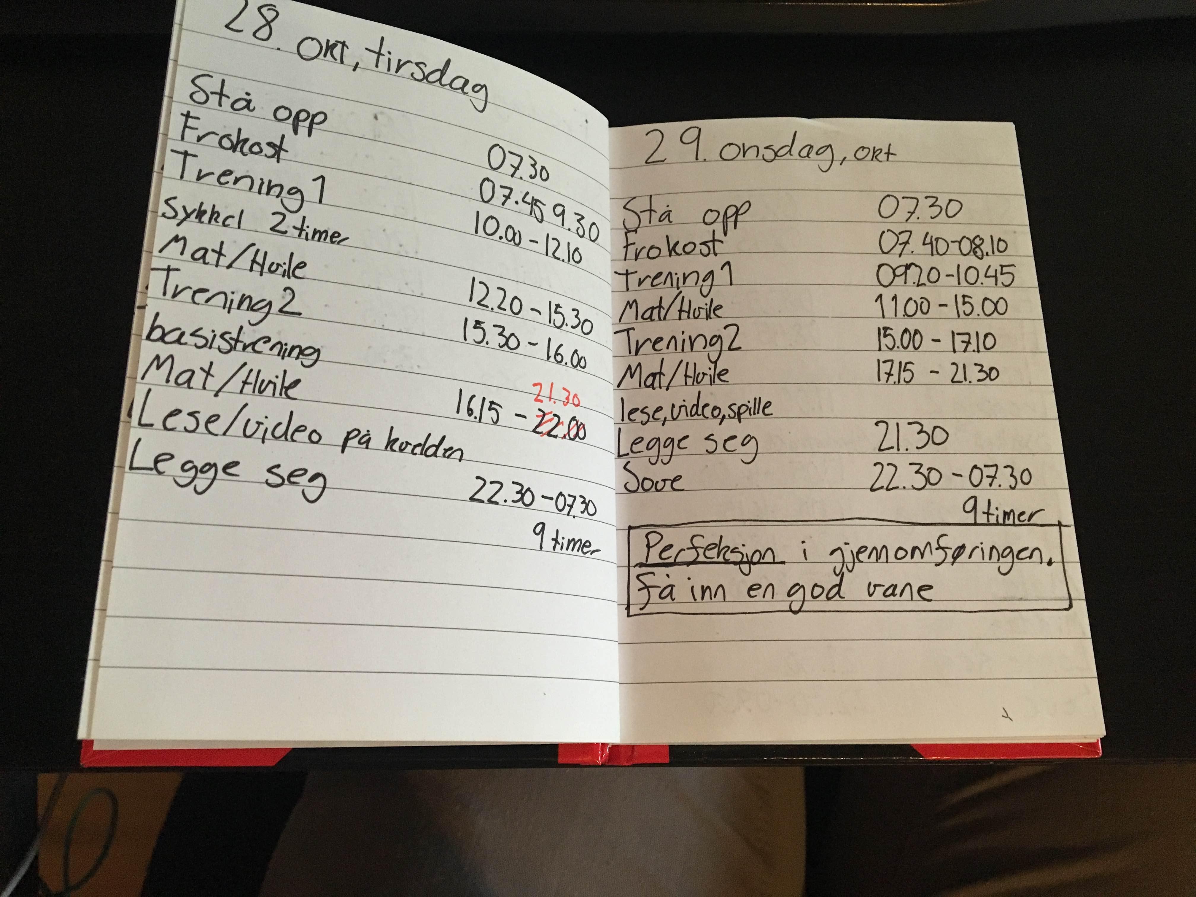 En av mange dager hvor man optimaliserer hverdagen. (Foto: ANDREAS)