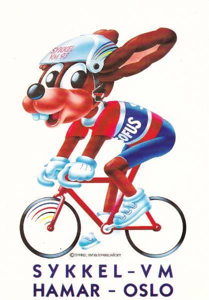 postkort-sykkel-vm-hamar-oslo-1993-ubrukt